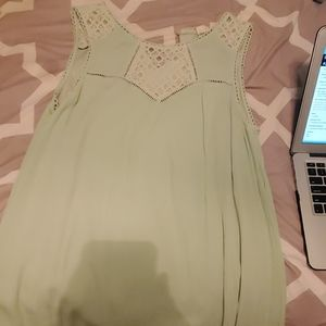 Mint green above knee dress